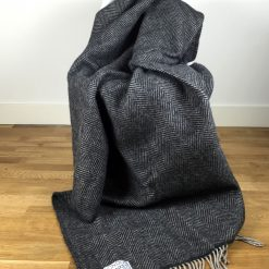 blanket draped over chair