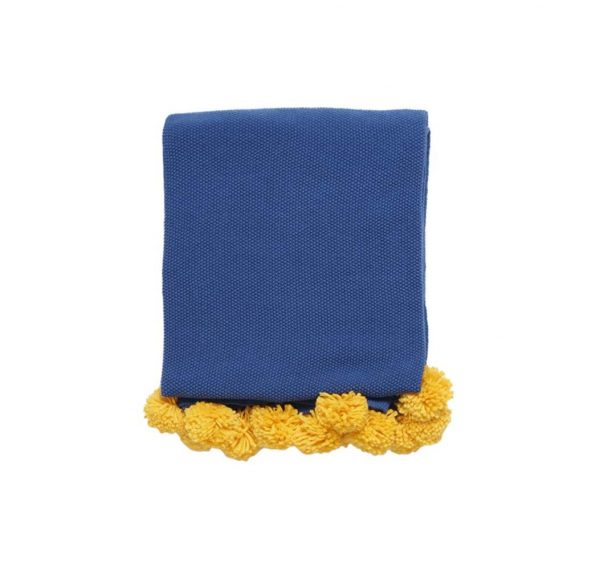navy and yellow blanket 1
