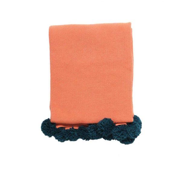 orange and green blanket 1
