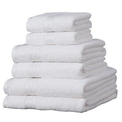 6 towel bale white