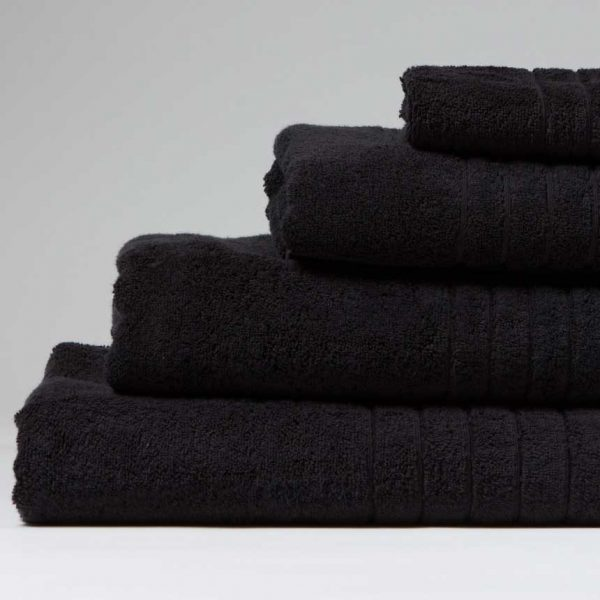 towels wholesale luxurious-linenhall-650gsm-bath-sheet-in-black-100 x 150