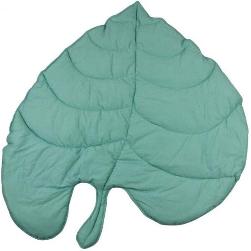 Super Soft Nursery Green Leaf Baby Cushion, Leaf Floor Mat, Padded Floor Mat, Kids Floor Mat, Baby Cushion, Kids Room Decor, 100cm x 100cm