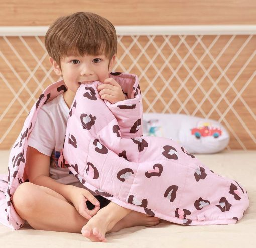 Weighted Blanket, Leopard Blanket, Weighted Kids Blanket, Pink Blanket, Leopard Weighted Blanket, Sleep Blanket, Toddler,, Free UK Delivery